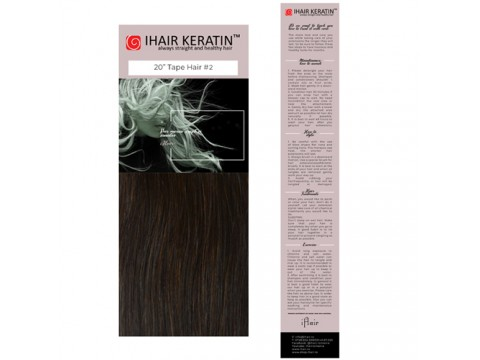 Extensii TAPE ON #2 Saten Natural Ihair Keratin