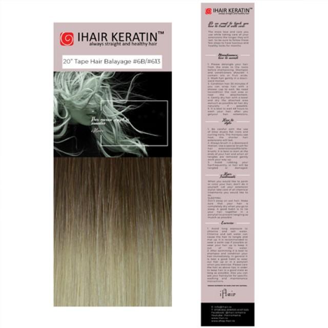 Extensii TAPE ON #6B/#613 -  Balayage Blond Ihair Keratin