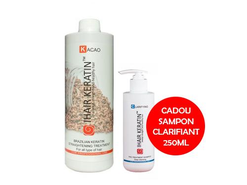 Tratament keratina indreptare IHAIR KERATIN Kacao 1000ml + Cadou Sampon Clarifiant 250ml
