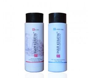 Kit Tratament keratina IHAIR KERATIN Kacao + sampon clarifiant, 100 ml