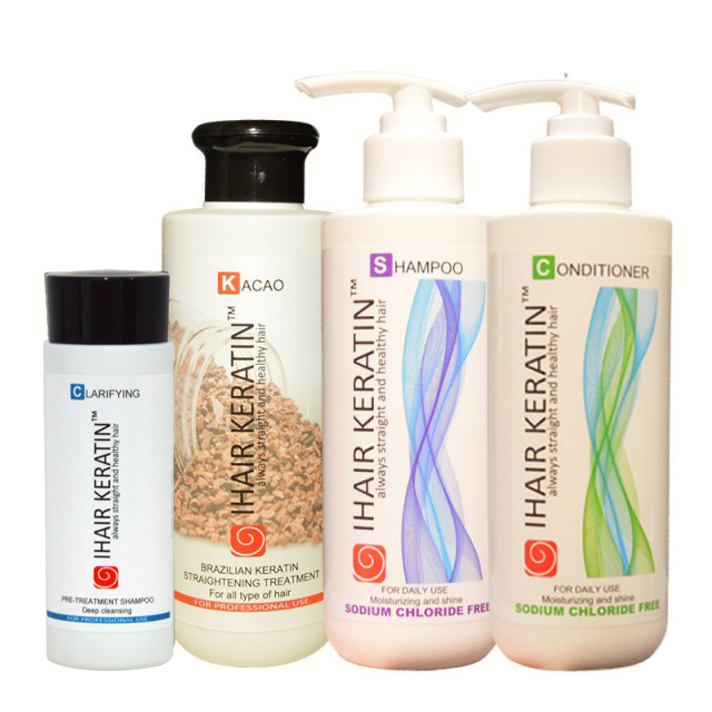 Kit tratament keratina Kacao complet Ihair Keratin 250ml