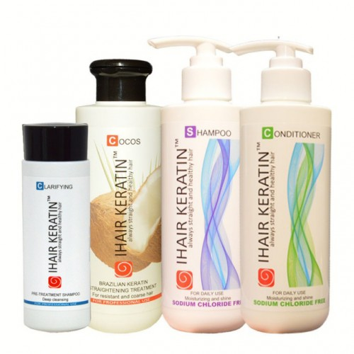 Kit complet tratament keratina Cocos Ihair Keratin 250 ml