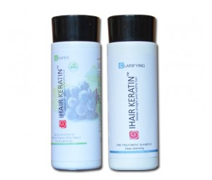 Tratament keratina Grapes Bio kit 100ml Ihair Keratin