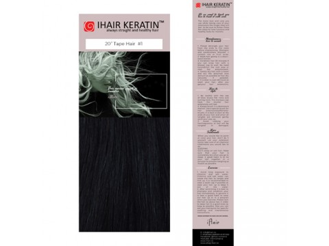 Extensii TAPE ON #1 Negru Ihair Keratin