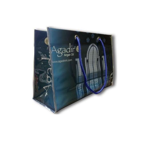 Geanta albastra cu manere Agadir