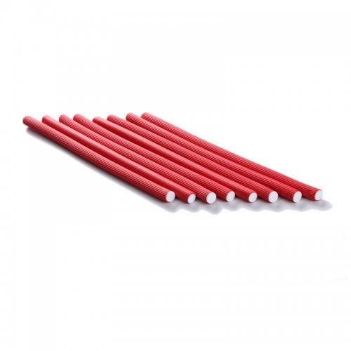 Bigudiuri flexibile rosii 1.0*23cm Ihair Keratin 10 buc