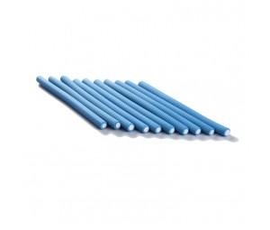Bigudiuri flexibile albastre 1.4*23cm Ihair Keratin 10 buc