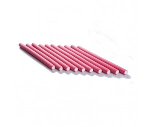 Bigudiuri flexibile roz 1.6*23cm Ihair Keratin 10 buc