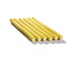 Bigudiuri flexibile galbene 2.0*23cm Ihair Keratin 6 buc