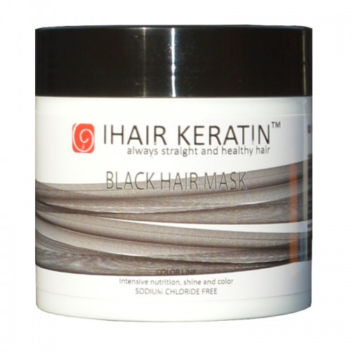 Masca Coloranta Neagra Ihair Keratin 500ml