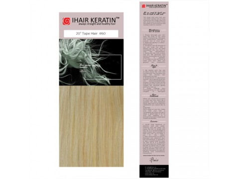 Extensii TAPE ON #60 -  Blond deschis Ihair Keratin
