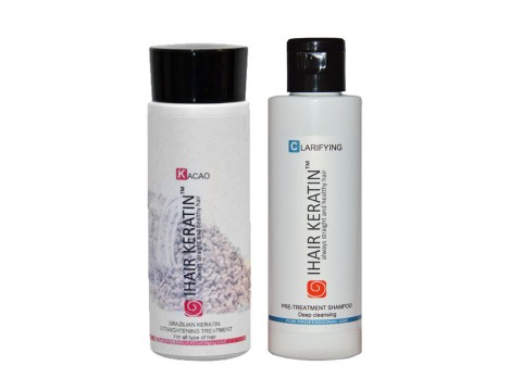 Kit Tratament keratina Kacao cu Sampon clarifiant Ihair Keratin 100ml