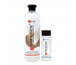 Kit Tratament Cocos intensiv 500 ml+sampon clarifiant 100ml Ihair Keratin