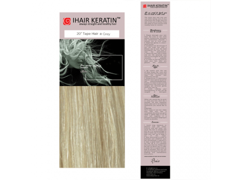 Extensii cu Banda nr.20 Blond Gri Tape On Ihair Keratin