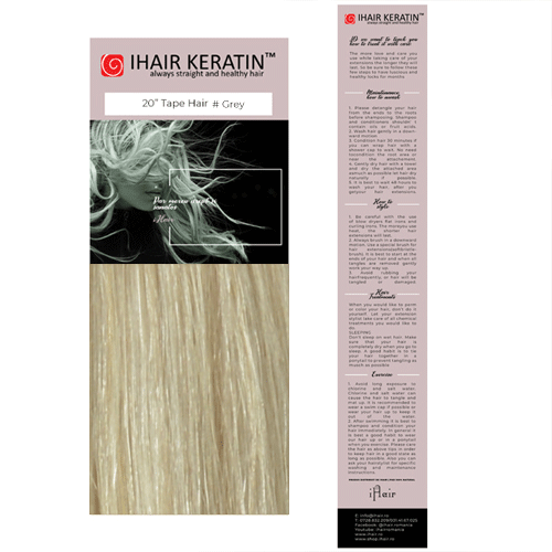 Extensii cu Banda Blond Gri Tape On Ihair Keratin