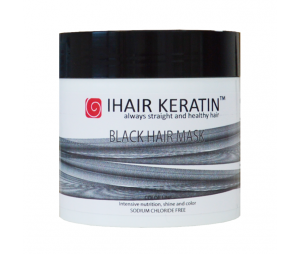 Masca Coloranta Neagra  500ml Ihair Keratin