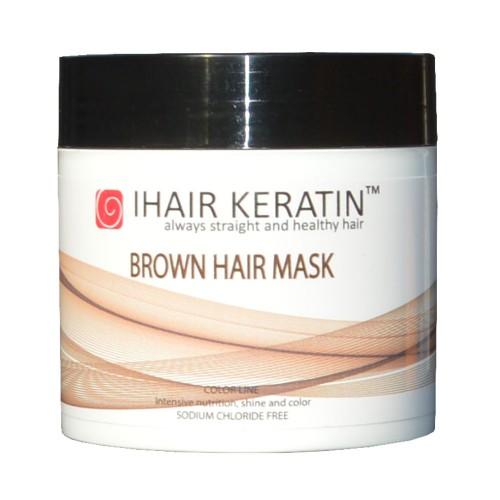 Masca coloranta ciocolatie Ihair Keratin 500ml