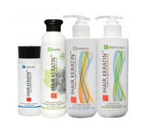 Kit complet tratament keratina Grapes Ihair Keratin 250 ml