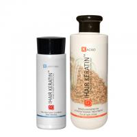 Kit tratament keratina Kacao 250 ml cu Sampon clarifiant 100 ml Ihair Keratin