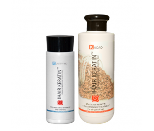 Kit Tratament keratina Cacao 250 ml+sampon clarifiant 100 ml  Ihair Keratin