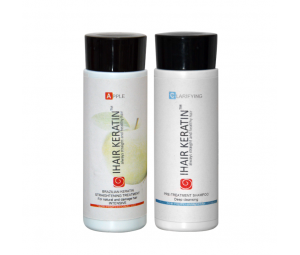 Tratament keratina Apple kit 100ml Ihair Keratin