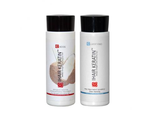 Tratament keratina Kit Cocos 100ml + sampon degresant 100ml