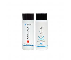 Kit Tratament cu keratina K Fusion+sampon clarifiant L'Kerabelle 100ml