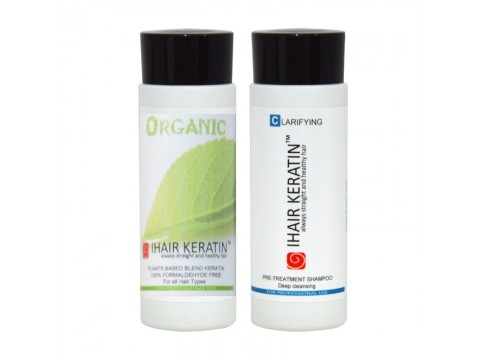 Kit tratament keratina Organic+sampon clarifiant  Ihair Keratin 100ml