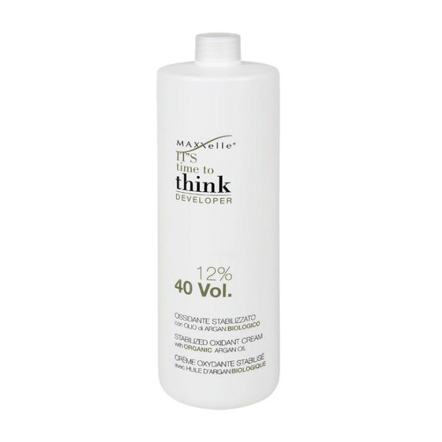 Oxidant fara amoniac 12% cu ulei de argan organic Think 40V  1000 ML