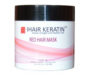 Masca coloranta roscat 500ml Ihair Keratin
