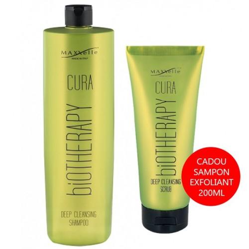 Set Promotional Par Gras si Matreata Sampon 1000ml + Scrub Deep Cleansing Cura Maxxelle 200 ml