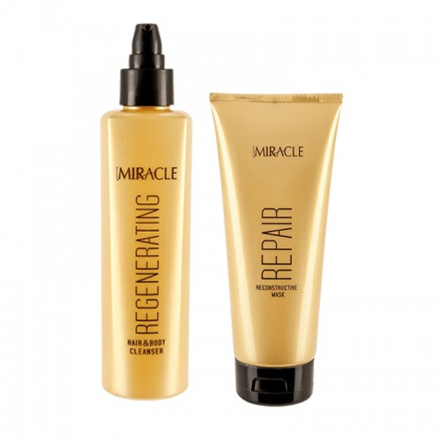 Set Promotional Spray Hidratare Par si Corp + Spray Styling cu Sare Organica Miracle Maxxelle 200ml
