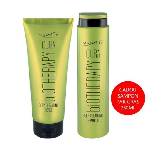 Set Promotional Par Gras si Matreata Scrub Deep Cleansing 200ml + Cadou Sampon Cura Maxxelle 250 ml