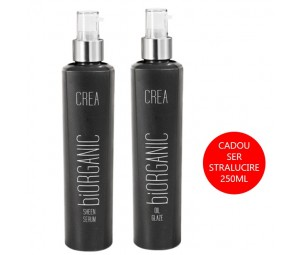Set Promotional Ser Reparator Sheen Serum 200ml + Ser de Stralucire Oil Glaze BiOrganic Crea Maxxelle 200ml