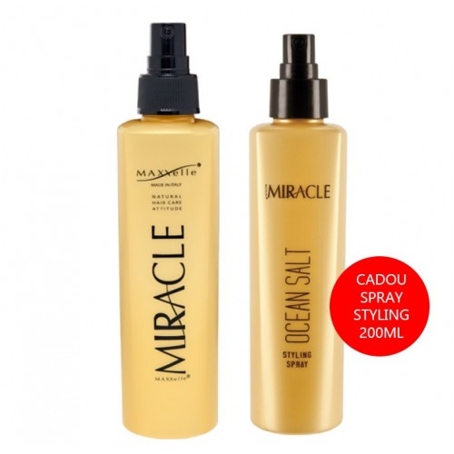 Set Promotional Spray Hidratare Par si Corp + Cadou Spray Styling cu Sare Organica Miracle Maxxelle 200ml