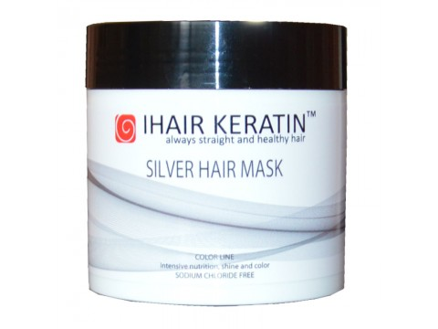 Masca Coloranta Gri, Silver Ihair Keratin 500ml