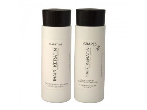 Tratament keratina Grapes Bio kit 100ml Ihair Keratin