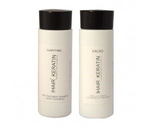Kit Tratament keratina IHAIR KERATIN Kacao + sampon clarifiant, 100 ml
